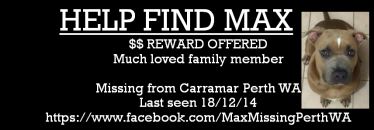 Missing Max Perth Sign