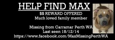 Missing Max Perth Sign